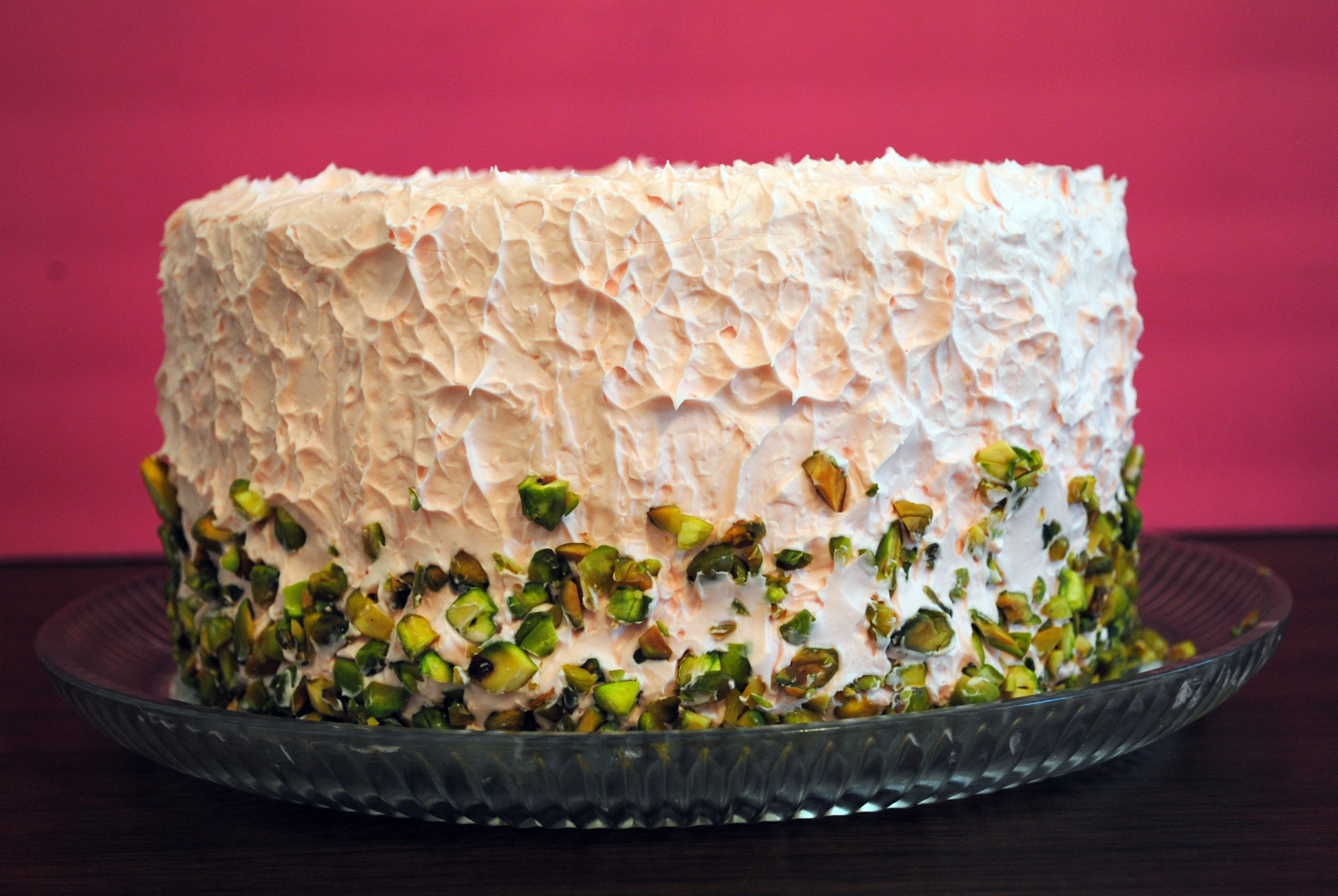 Pistachio Layer Cake From Scratch